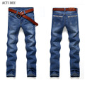 Free Shipping! Cheap High Quality 2017 New Men's Jeans Plus size Fashion Straight Jeans Men 38 36 from 28 5z