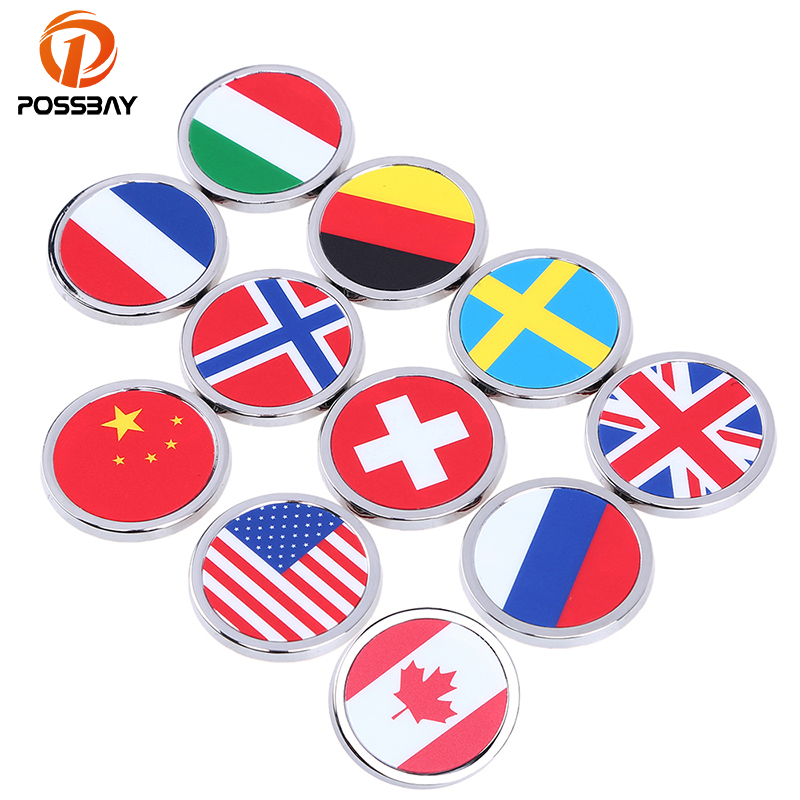 POSSBAY 3D Decal Car Sticker China/Canada/German/American/Swiss/Russian/France/Norway/Sweden Door Body Hood Window Home Stickers