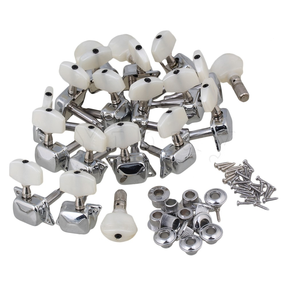 Yibuy Semiclosed Banjo Machine Head Tuning Pegs with Bushing Chrome ivita 1800g suntan crossdresser silicone breast forms enhancer drag queen cosplay shemale boobs costume