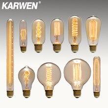Lâmpada de edison e27, antiguidade, retrô, vintage, 40w, incandescente, st64 g80 g95 220v, edison, para decoração lâmpada pingente