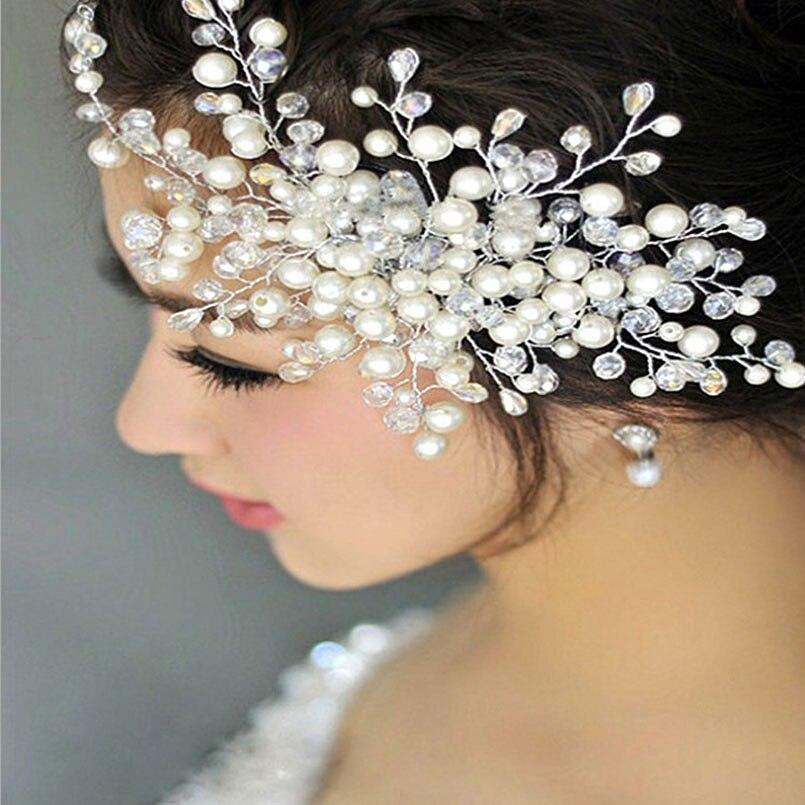 bf884c8cd2 US $3.49 30% OFF|Aliexpress.com : Buy Women Wedding Hair Accessories Bridal  Pearl Crystal Tiara Wedding Decoration Hair Comb Jewelry Fashion Hairpins  ...