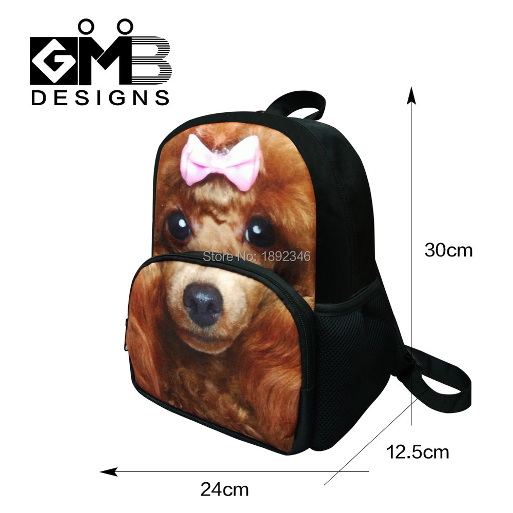 d6eea00d329e Cute Animal Dog 3D Printing School Backpacks for Kindergarten Girls Little  Boys Mochilas Clear School Bags for Children Bookbags-in Backpacks from  Luggage ...