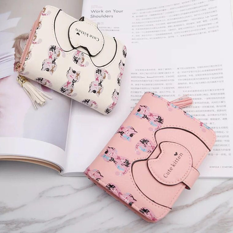 2018 Designer Famous Brand Luxury Women 39 s Wallet Purse Female Small wallet perse Portomonee portfolio lady short carteras in Wallets from Luggage amp Bags