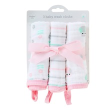 LionBear 3 pcs/sets infant baby face towel newborns 6 layers 100% muslin cotton square hand Wiping stuff Accessories