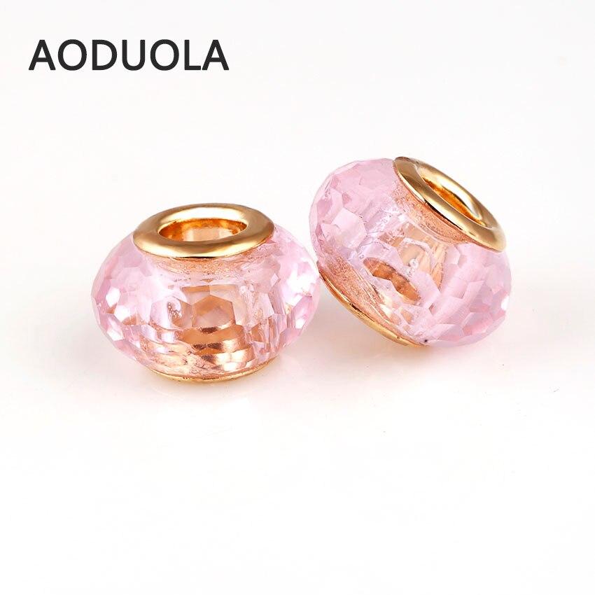 10 Pcs Viel 96 Winkel Gesicht Glas Charme Gold Platte Perlen Diy Europäischen Murano Tschechische Perlen Fit Für Pandora Charms Armband