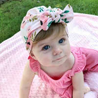 Newborn Infant Toddler Kid Baby Cute Soft Cotton Knot Printed Rabbit Ears Turban Hat Indian Flower Cap Baby Accessories for Baby