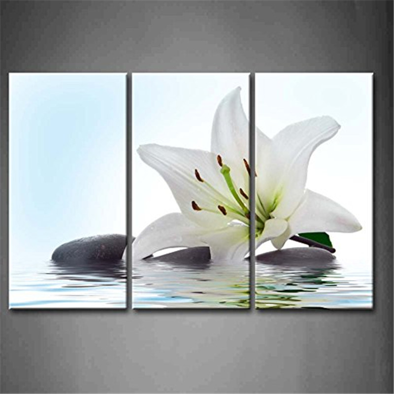 Online get cheap madonna lily flower for White wall decor