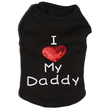 "CUTE ""I LOVE MY MOMMY / DADDY"" SHIRT / VEST / 6 COLORS"