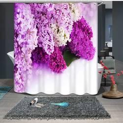 Красивый цветок 3D Печатный узор современный полиэстер водостойкий плесень душ украшение дома занавеска ванная занавеска
