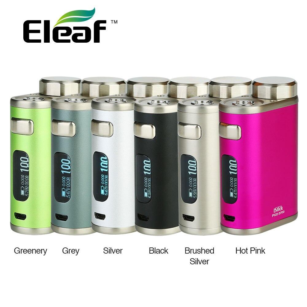 D'origine Eleaf IStick Pico 21700 TC boîte MOD puissant 100W sortie avec des Modes VW/TC haute Performance pas de batterie 18650 Ecig boîte Mod
