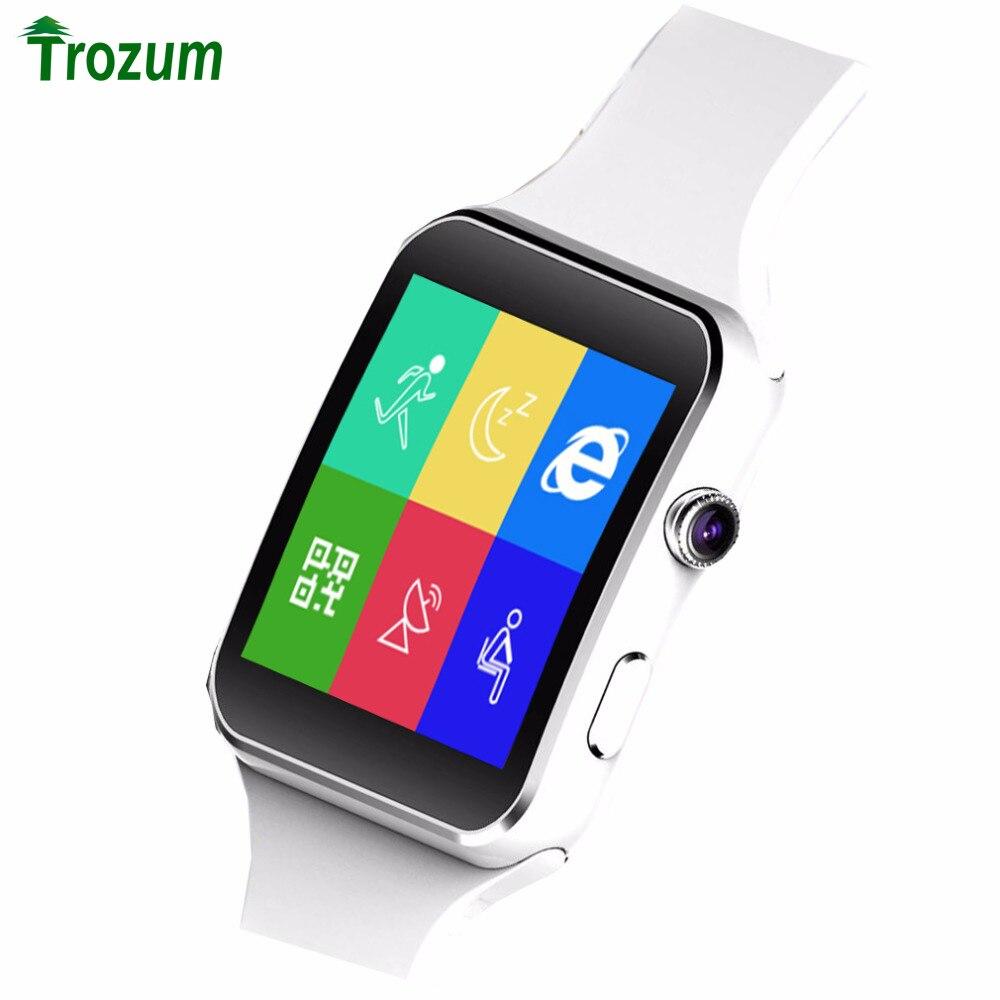 imágenes para E6 Pantalla Curvada Bluetooth Reloj Inteligente Reloj X6 Con Ayuda de La Cámara de Tarjetas SD SIM reloj inteligente Reloj de Pulsera Para Teléfonos Android