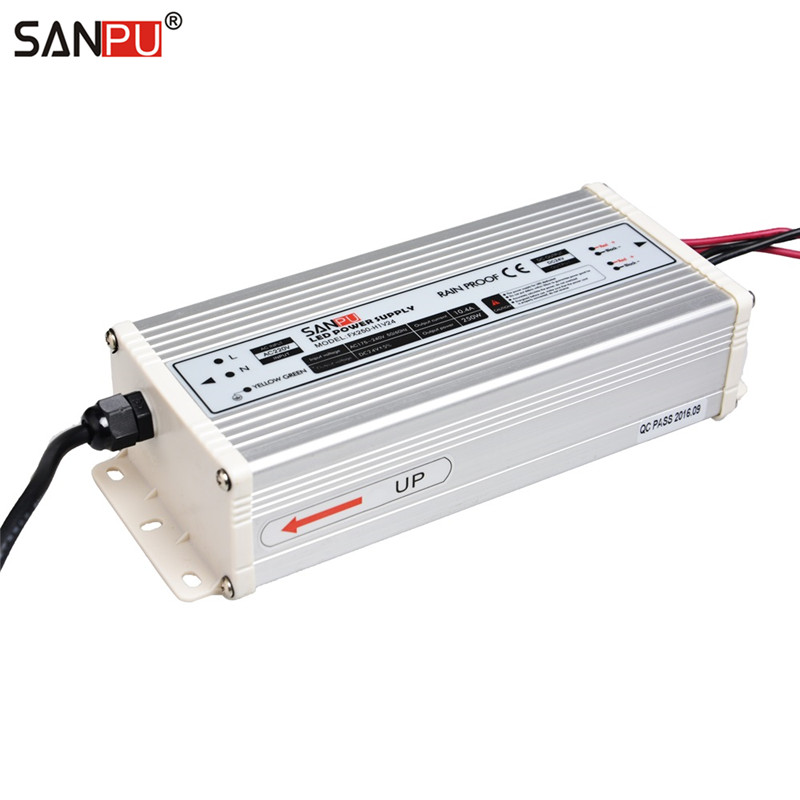 SANPU SMPS 24 v 250w LED Power Supply 10a Constant Voltage Switch Driver 220v 230v ac dc Lighting Transformer Rainproof IP 63 sanpu smps led display switching power supply 5v dc 300w 60a 110v 220v ac dc lighting transformer driver rainproof outdoor