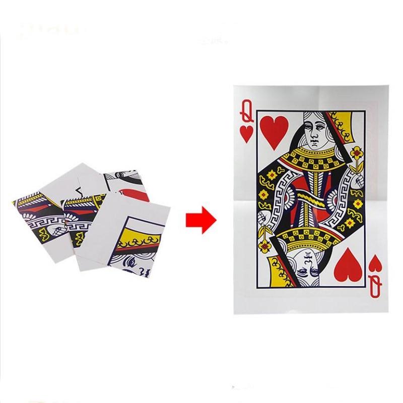 1pcs Queen Restored Close Up Card Magie Trick Props Magia Stage Street Magic Props Card Magic Gimmick Magician Tool