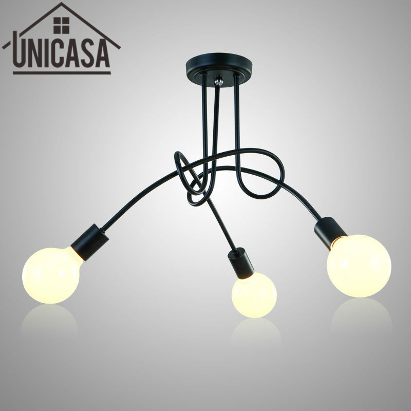 Black pendant lights Modern Ceiling lamps Bar lighting multi for home decoration loft bedroom lamp hotel Art deco light e26 e27 socket pendant lamp modern pendant lights lamp 110 220v classic pendant light for home coffee bar lighting decoration