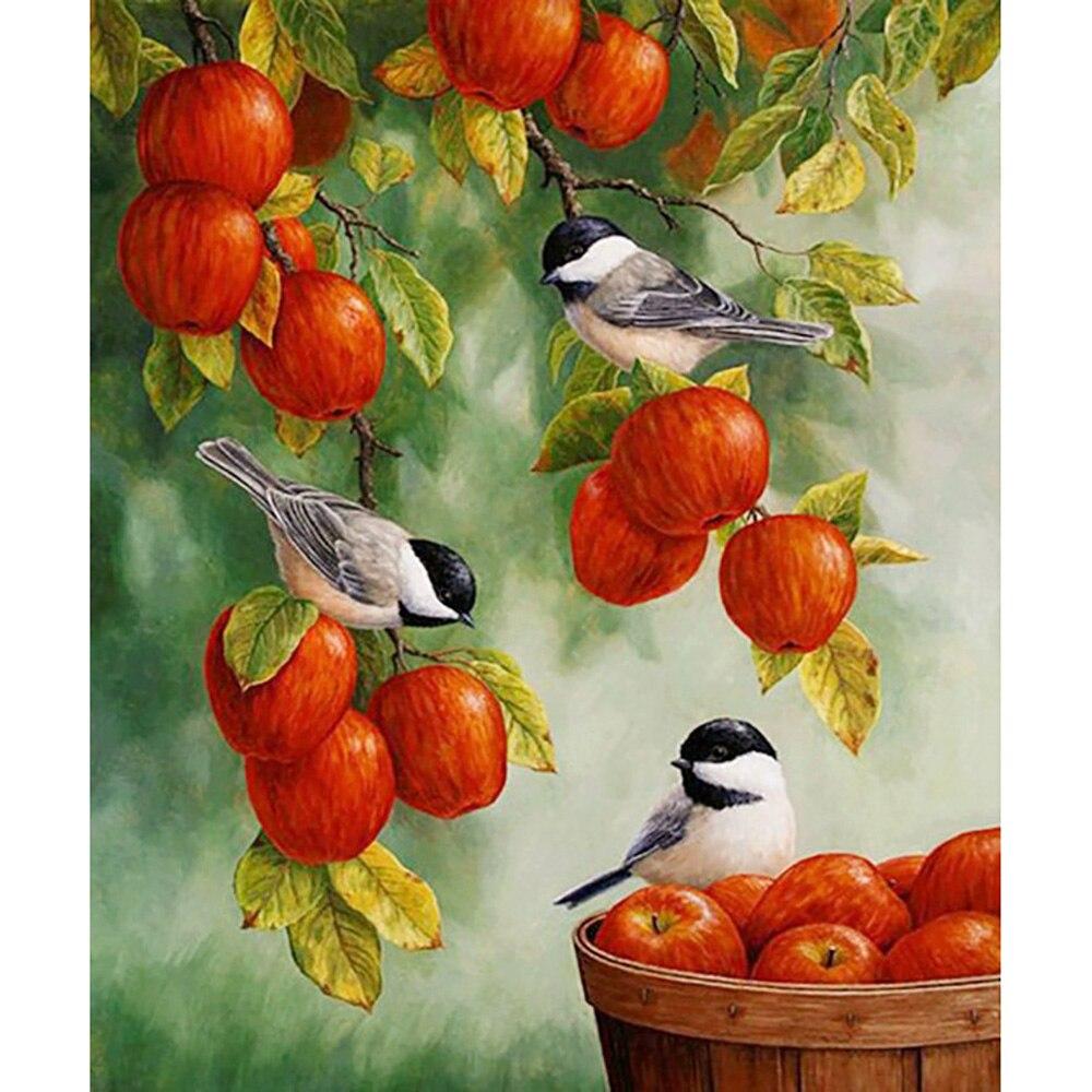 Картинки для декупажа птицы и яблоки первую