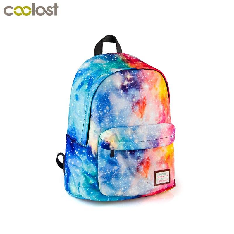 8f8099b80e8e Galaxy Рюкзак для подростков мальчиков и девочек Универсальный Star Сумки  Звездная ночь школьный рюкзак детей школьные сумки подросток колледж сумка  ...