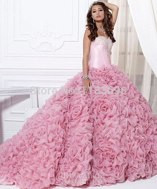 Pink Princess Ball Gown Promotion-Shop for Promotional Pink ...