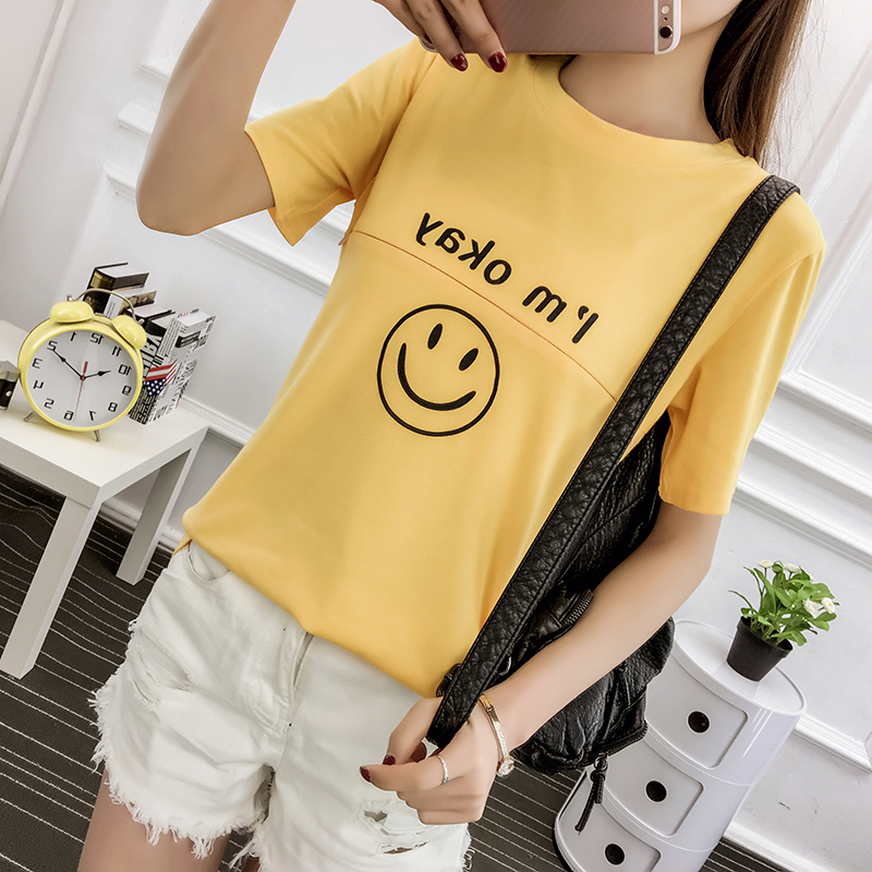 9008# Lovely Cotton Maternity Nursing Tops Summer Casual Breastfeeding T-shirt Clothes For Pregnant Women Pregnancy Tees T Shirt