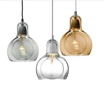 Moda moderna europa artesanal de vidro led e27 pingente luz para sala de jantar restaurante sala ac 80-265 v 1407