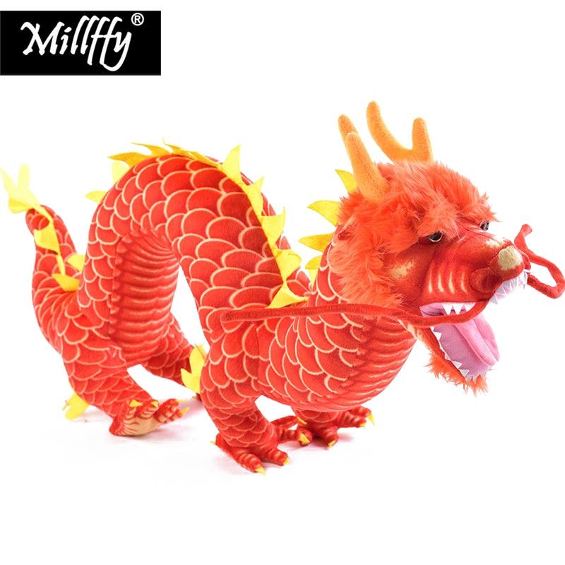Livraison directe Millffy haute qualité nouveauté Peluches Dragon chinois en peluche jouets en peluche Animal doux poupée mascotte pour les enfants
