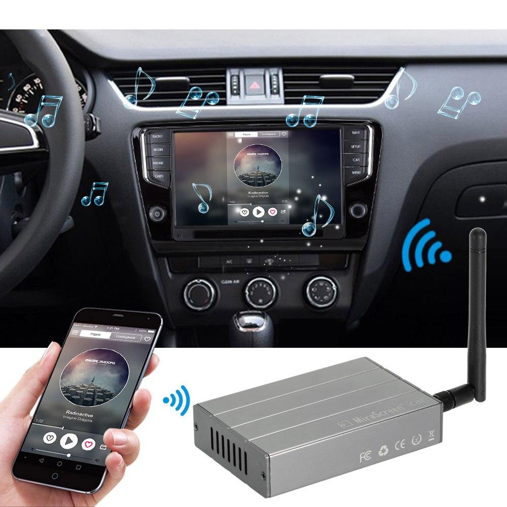 Mini miroir voiture WiFi affichage Dongle miroir boîte HD Airplay Miracast DLNA GPS Navigation voiture pour Android téléphone tablette Pad TV