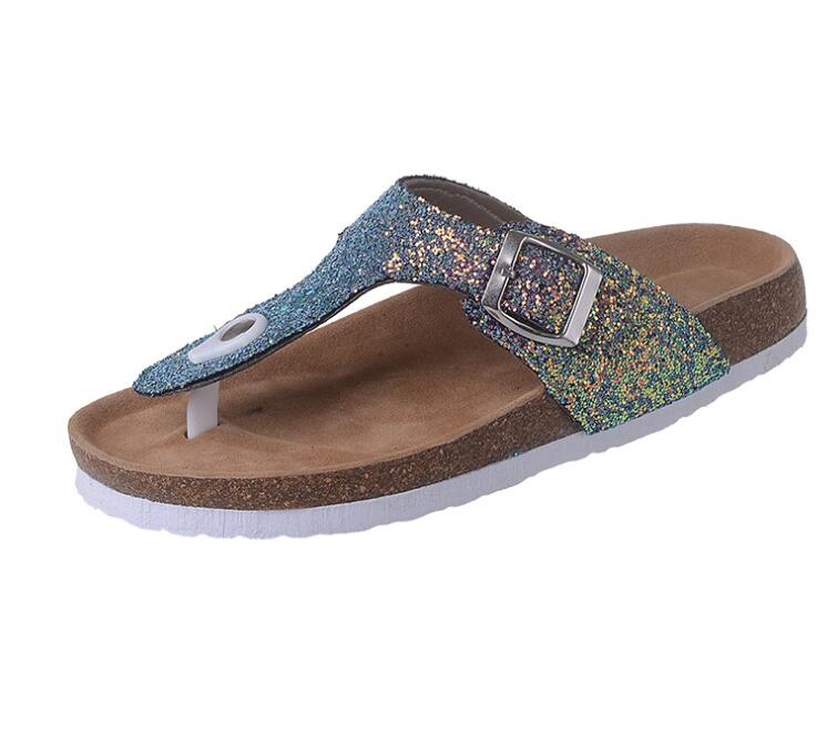 Frauen Sommer Flip-Flops Slip Auf Hausschuhe Strand Flip-Flops Strand Rutschen Kristall Bling Gleitet Sandalen Mode Damen Wohnungen mujer