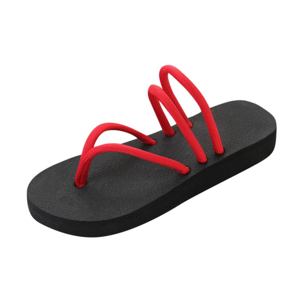 Women Solid Pinch Slipsole Flat Shoes Flip Flops Sandals Slipper Fashion Clip Toes Flip Flops Ladies Shoes Fashion Beach цена
