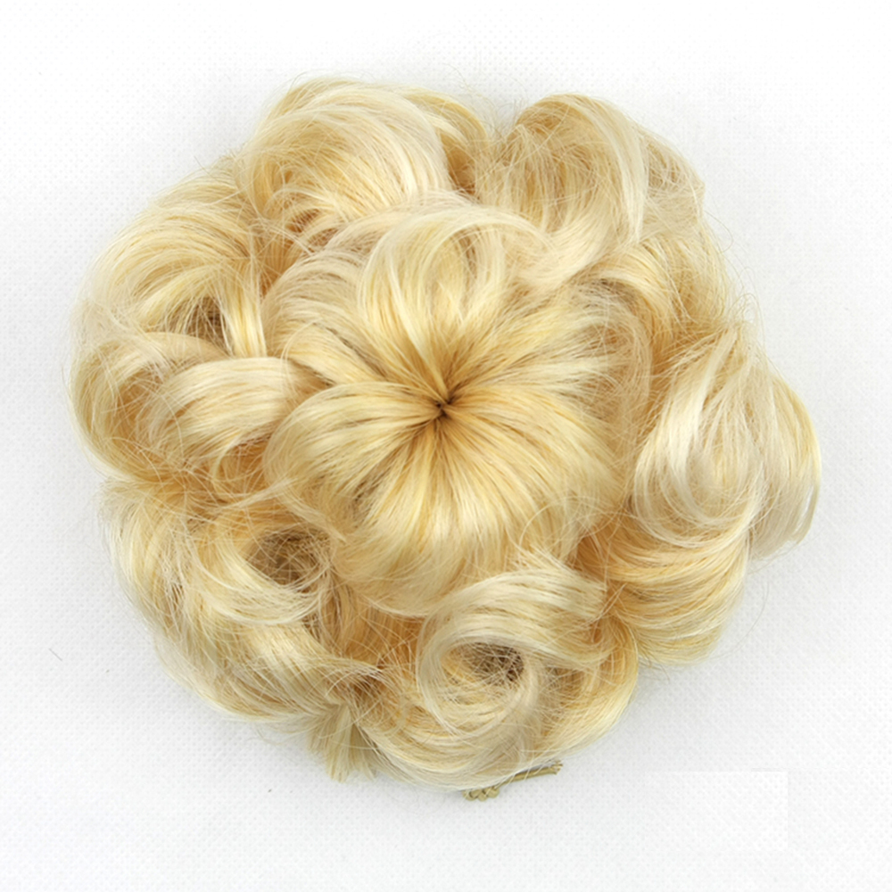 Soowee 5 colors High Temperature Fiber Synthetic Hair Chignon Synthetic Donut Roller Hairpieces Hair bun