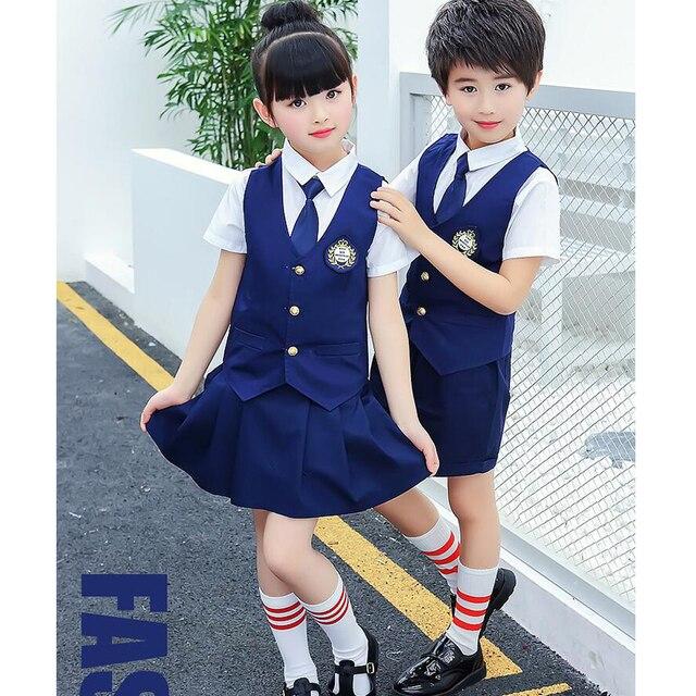 Children Japanese Korean School Uniforms Girl Boys Dance -4217