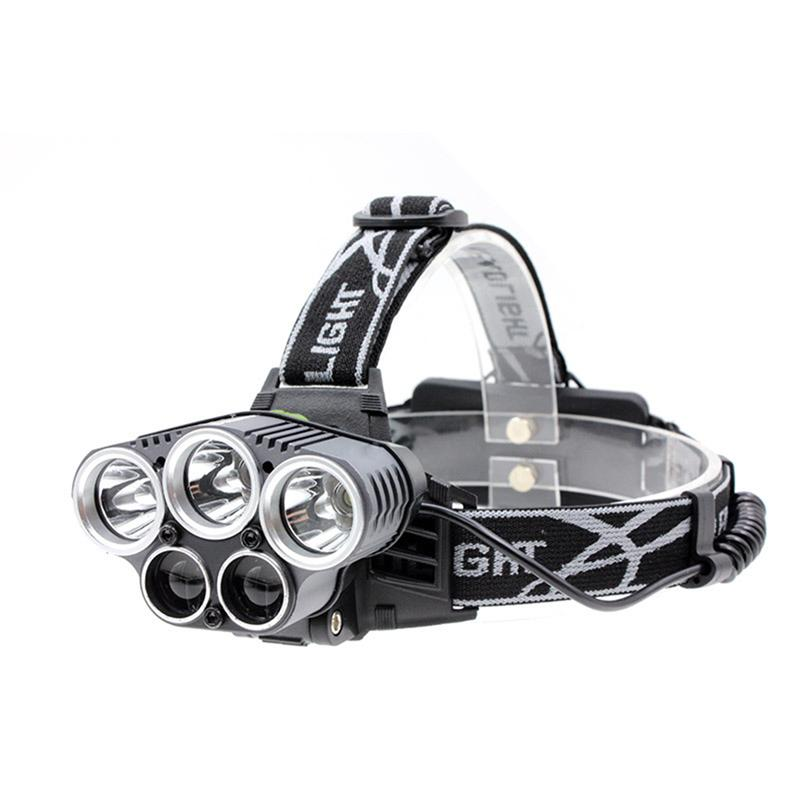 5LED Rechargeable Headlamp Flashlight Super Bright Head Torch Waterproof Head Lamp For Outdoor Running Camping Hiking Walking blog flashlight outdoor 5led pocket strong waterproof 8 hours to illuminate mountain climbing camping p004