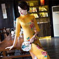 long qipao chinese traditional lace plus size for women modern qipao dress long ladies elegant silk long sleeve cheongsam