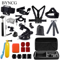 Gopro Accessories Set Go Pro Kit Mount For SJ4000 Gopro Hero 4 3 2 1 Black