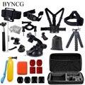 Gopro accessories set go pro kit mount for SJ4000 gopro hero 5 4 3 2 Black Edition SJCAM SJ5000 camera case xiaoyi chest tripod