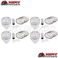 Motorcycle Hign Chromium Faced Aluminium Piston Rings Fit SUZUKI GSXR250 72A 73A 74A 913 250 The