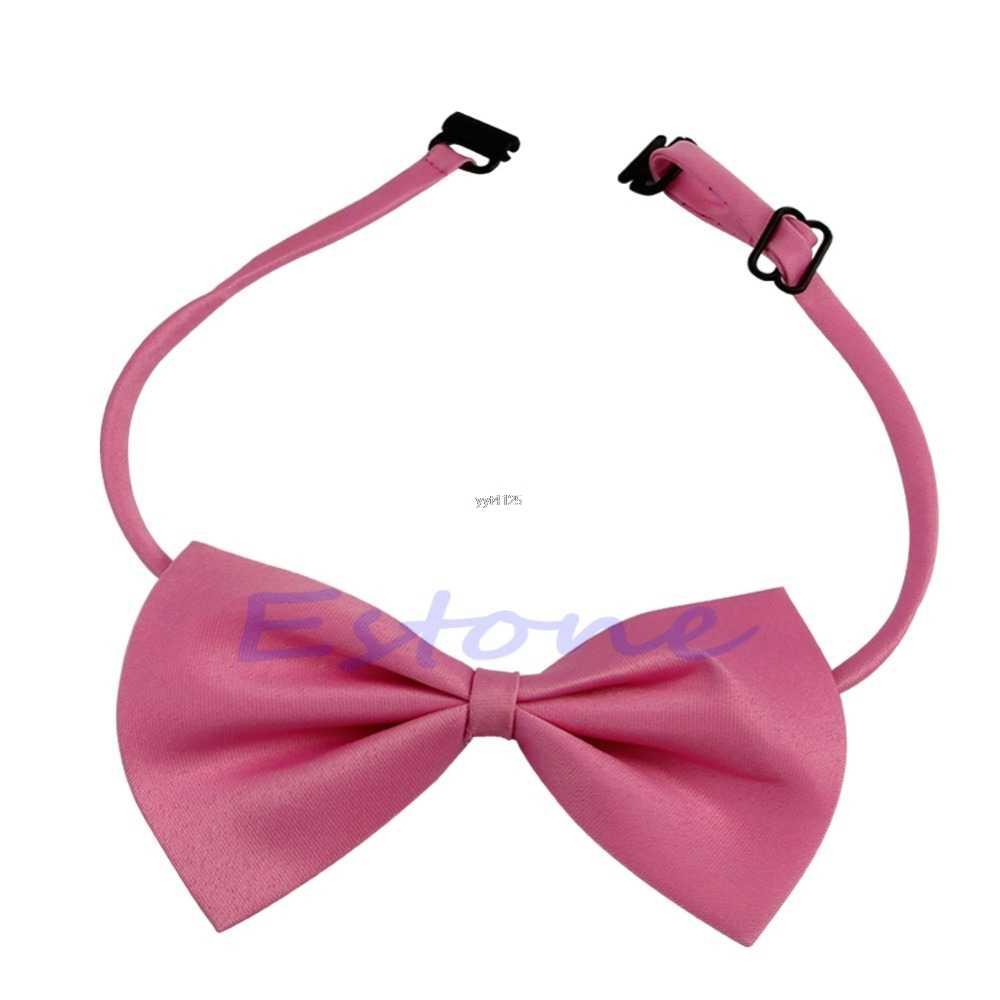 2018 çocuk katı yay kelebek bağları moda sevimli çocuk korosu yapmak yetişkin öğrenci papyon kravat yaka aksesuarları