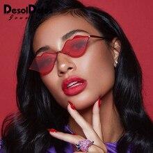 Sexy Red Lips Sunglasses 90S Hippie Vintage sun galsses for Women Festival Rave Party Sun Glasses Ladies Eyeglasses