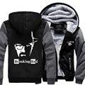 Hot New Breaking Bad Walter White Hoodie Logo Winter JiaRong Fleece Mens Sweatshirts Free Shipping