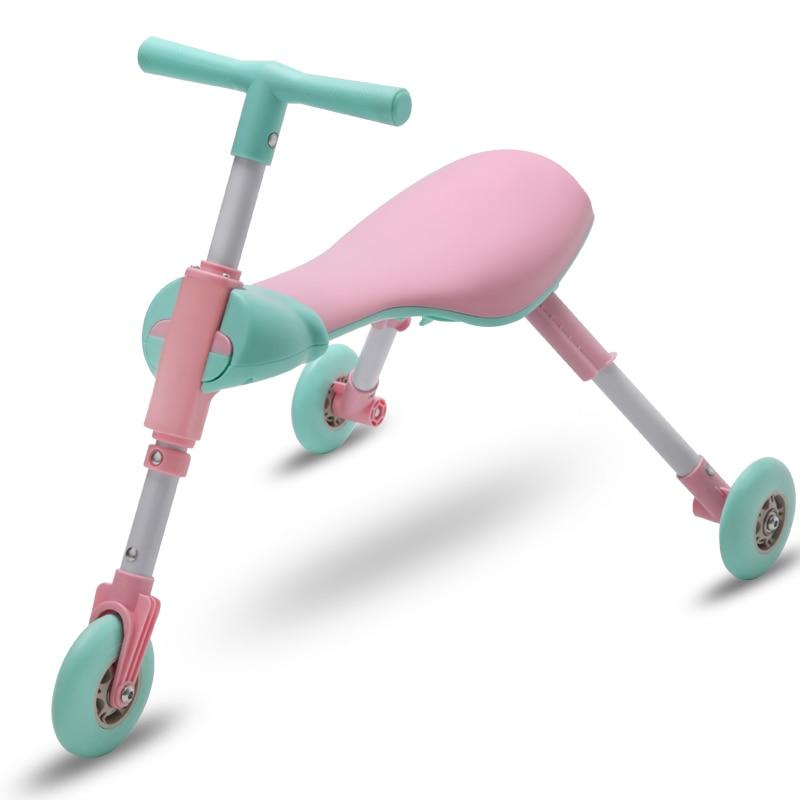 Enfants 1-2-3-6 ans marcheur Tricycle mante taille de voiture pliant scooter pas de pédale yo-yo scooter