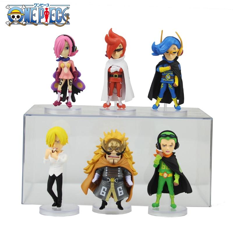 Free Shipping 3 One Piece Anime Vinsmoke Family WCF Judge Ichiji Sanji Reiju Niji Boxed PVC Action Figure Model Doll Toys Gift