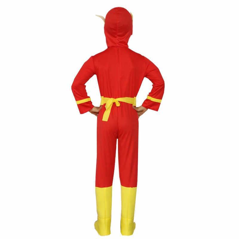 Super-herói o flash crianças trajes muscle cosplay comic fantasia halloween outfit vestido extravagante para criança crianças