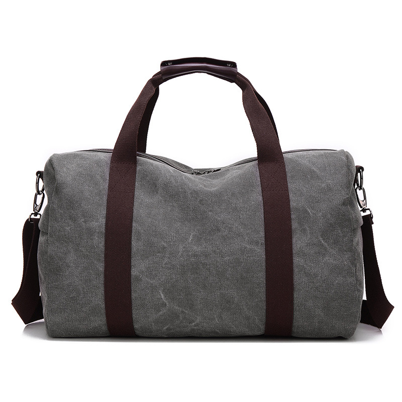 large capacity canvas portable travel shoulder classic handbag trendy boutique Weekend luggage Bags Men Canvas Travel Bags