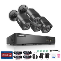 ANNKE 8CH 1080P HD CCTV System DVR 4pcs 720P 1200TVL IR Outdoor Weatherproof CCTV Security Cameras