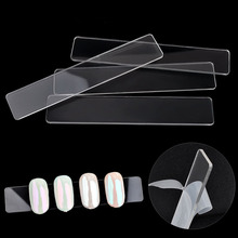10 Pcs/lot Nail Art Tips Display Show Stand Holder Acrylic Clear Bar Adhensive Chart Manicure Practice False