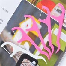 100 шт. зубочистки зубной Флоссер межзубная щетка зубочистки оральные резинки для чистки зубов инструменты для ухода за зубными нитками стоматологический пластик