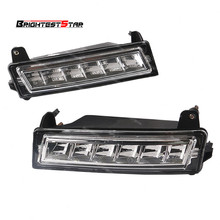Pair 1649060251 Front LED Daytime Running Light DRL For Mercedes W164 X164 X204 ML350 ML450 GL450 GLK350 2010 2012 цена
