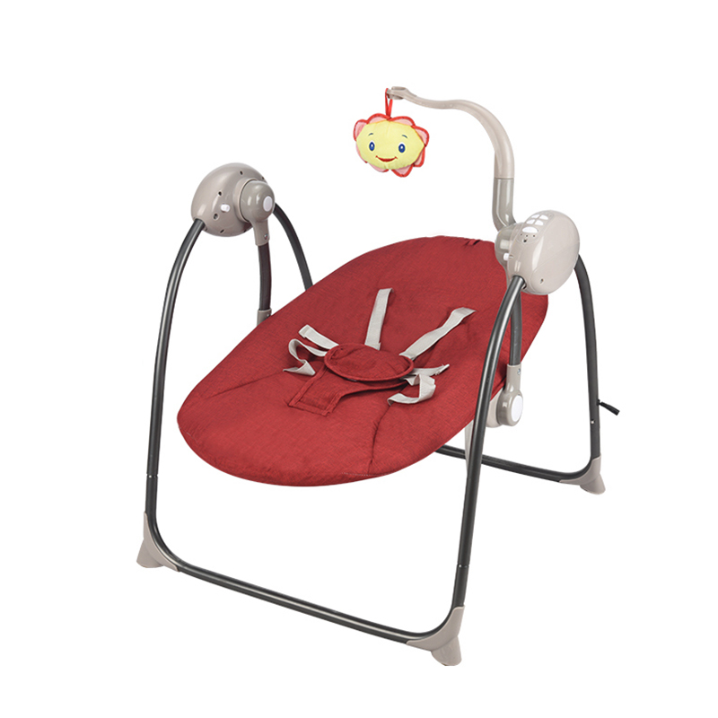 Infant electric rocking chair bearing 16kg baby cradle recliner comfort chair rocking table swing chair two power supply modes
