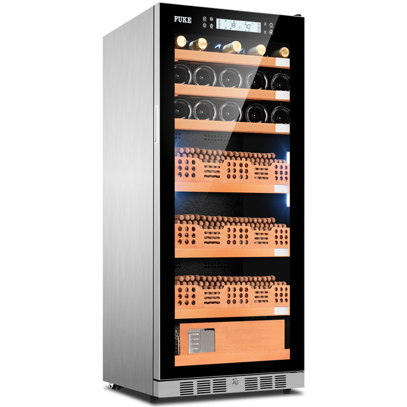 Us 2200 0 E Cigar Cabinet Humidor Led Light Cooler Wine Fk 48cw2 In Accessories From Home