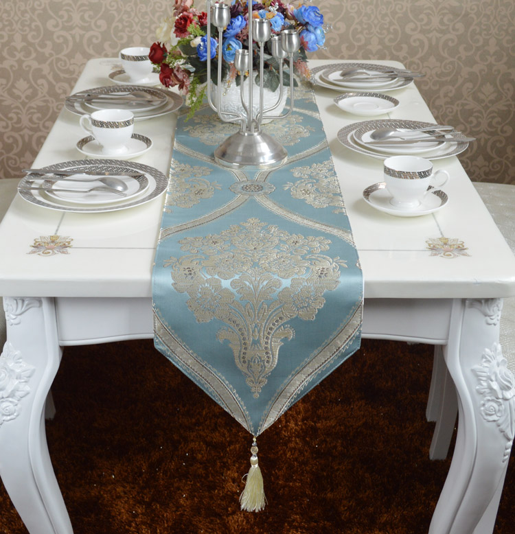 saletable runner for pastoral fabric home elegant simple dinning coffee linen europe silk fabrics