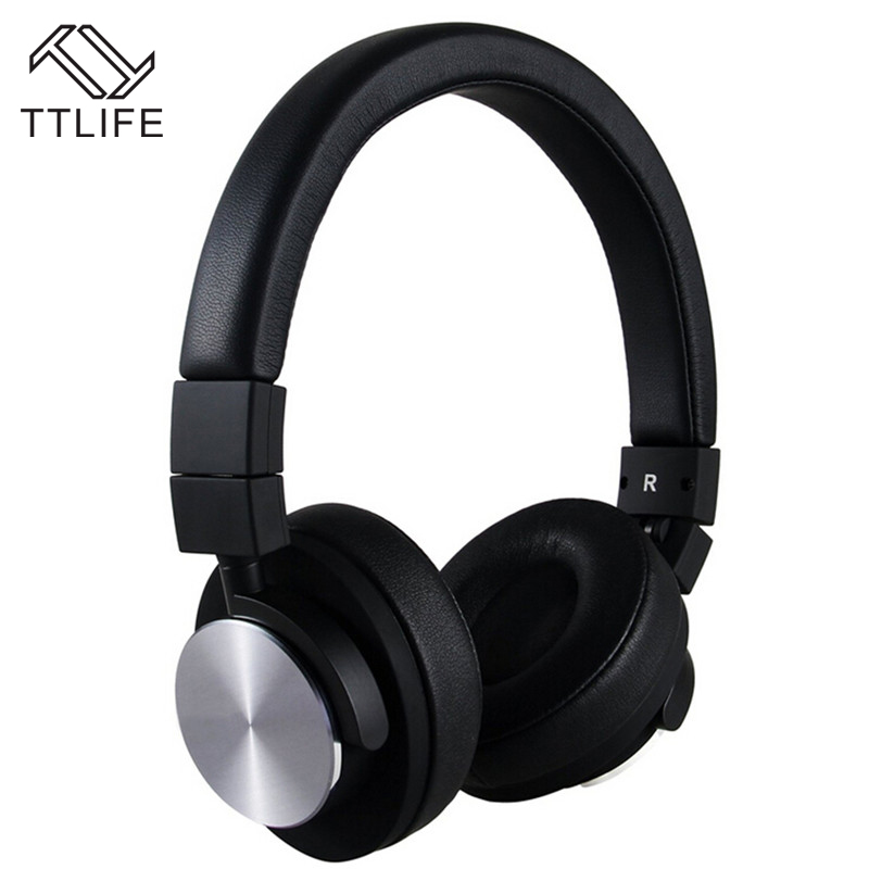 2016 TTLIFE Brand Wired Strong Bass Foldable Headphones Lightweight Noise Isolating Headphone for Music Game Time Fone De Ouvido 75ohm coaxial female connectors plugs 5 pcs