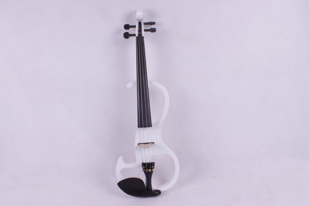 huitar head white  4/4 Electric Violin solid wood fine sound 1 Pcs handmade new solid maple wood brown acoustic violin violino 4 4 electric violin case bow included